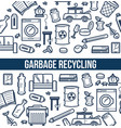 garbage recycling promotional poster with sketch vector image