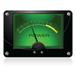 green signal meter vector image vector image