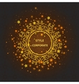 Greeting card with ornamental logo bright lights vector image vector image