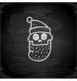 Hand Drawn Dead Santa Claus vector image