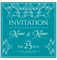 Invitation card design vector image vector image