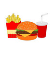 isolated delicious fast food breakfast icon vector image vector image