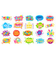 kids zone badges kid play room label colorful vector image