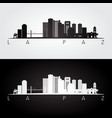 la paz skyline and landmarks silhouette