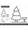 landscape design line icon vector image vector image