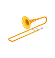 Large golden trumpet trombone brass musical