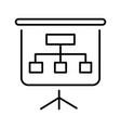 linear presentation billboard icon vector image vector image