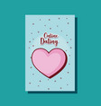 love heart passion online dating card cartoon vector image