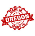made in oregon round seal vector image vector image