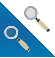 magnifying glass symbols on white background vector image vector image