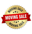 moving sale round isolated gold badge vector image
