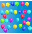 multicolored balloons vector image
