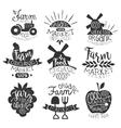 Organic Market Vintage Stamp Collection vector image