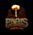 paris apocalypse vintage template