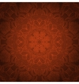 Pastel brown lace ornament vector image vector image