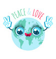 peace and love vector image