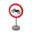 Prohibitory road sign icon in cartoon style vector image