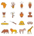 safari icons set vector image vector image
