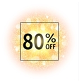 Sale banner 80 percents off on abstract background vector image