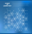 science and laboratory concept in honeycombs vector image vector image