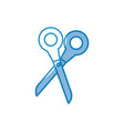 scissor utensil icon vector image