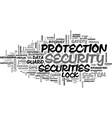securities word cloud concept vector image vector image