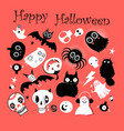 set different objects for hallowee vector image vector image