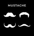 set icons retro mustache vector image