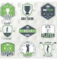 set vintage golf labels badges and emblems vector image
