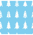 simple christmas seamless pattern with white vector image vector image
