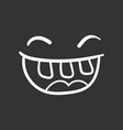 simple smile with tongue icon hand drawn face vector image vector image