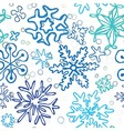 snowflakes pattern vector image vector image