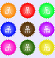 social network icon sign A set of nine different vector image vector image