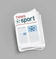 sport newspaper press icon vector image