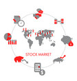 stock market concept stock market concept vector image vector image