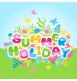 Summer holidays inscription of colorful letters vector image
