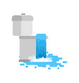 toilet is clogged with water leaking out vector image vector image