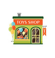 toys shop flat kids store vector image
