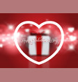 valentines day background with defocussed gift vector image vector image