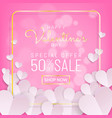 valentines day sale background typography and vector image vector image