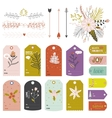 Vintage Christmas and New Year greeting stickers vector image vector image