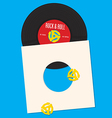 Vinyl Record Design Template vector image vector image