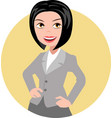 woman in business suit vector image vector image