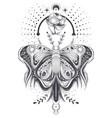 a sketch tattoo art vector image