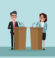 background scene presidential candidate speaks to vector image