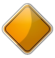 road sign icon image vector image