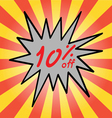 Sale 10 text vector image