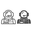 astronaut avatar line and glyph icon spaceman vector image vector image