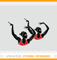 Athlete Synchro swimmers vector image vector image