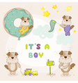 Baby Dog Set - Baby Shower or Arrival Cards vector image vector image